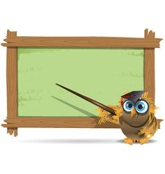 owl teacher vector image vector image