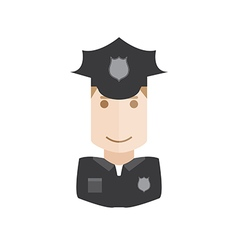 policeman avatar vector image vector image