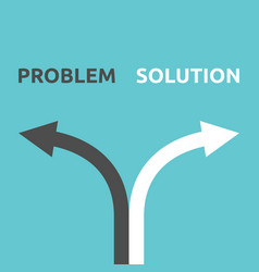 problem and solution arrows vector image