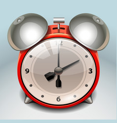 retro alarm clock icon vector image