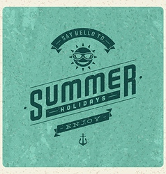 Retro summer design poster vector image vector image
