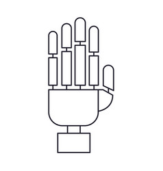 robot hand icon in monochrome silhouette vector image