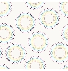 Seamless pattern with dotted circles vector image