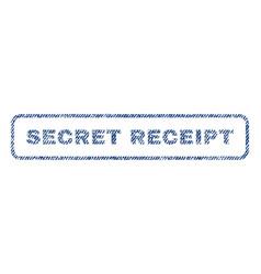 Secret receipt textile stamp vector