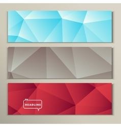Set bright abstract image of gray blue red vector