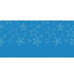 Starfish blue texture horizontal seamless pattern vector image vector image