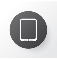 tablet phone icon symbol premium quality isolated vector image