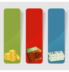 Three Business Frame vector image vector image