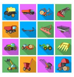 Trailer dumper tractor loader and other vector