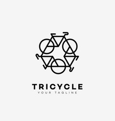 tricycle logo vector image vector image