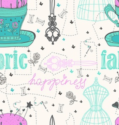 Vintage Color Seamless pattern - fashion and vector image