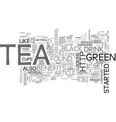 Why herbal tea text word cloud concept vector