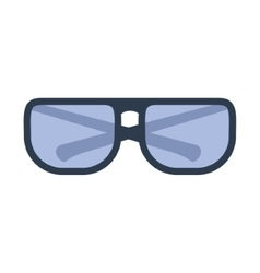 Glasses optical style vector