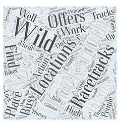 Wild locations for locksmiths word cloud concept vector