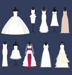 wedding bride dress celebration vector image