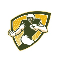 American football running back shield vector