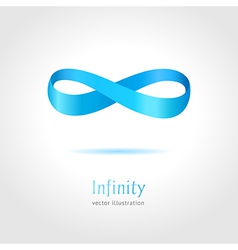 Abstract blue Infinity symbol on gray background vector image