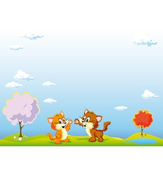 Playing cats vector