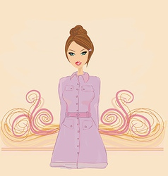 Fashion girl in coat vector