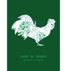 Abstract blue and green leaves rooster vector