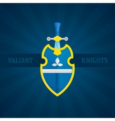 Sword and shield icon vector
