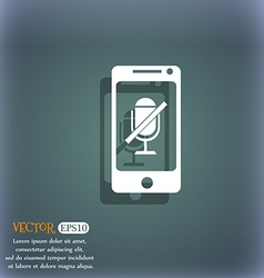 No microphone sign icon speaker symbol on the vector