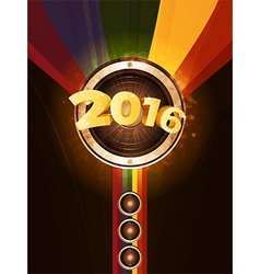 New years party 2016 background vector