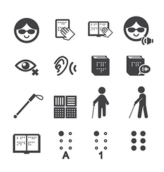 Blind man icon vector