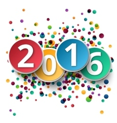 Happy new year 2016 ctemplate background vector