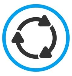 Rotate cw rounded icon vector