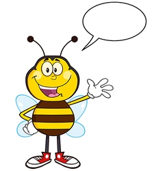 Talking bumble bee cartoon vector