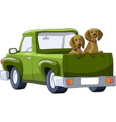 car dog vector image