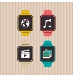 Icon of smart watch design vector