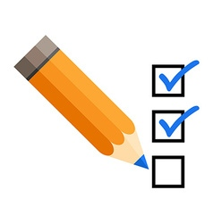Checklist with a pencil checking off tasks vector image