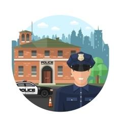 Concept police composition vector