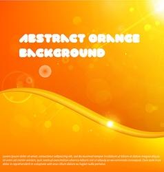 Bright Orange Design for Business vector image vector image