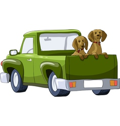 car dog vector image