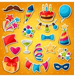 Carnival show and party set of celebration vector