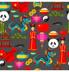 China seamless pattern chinese symbols and vector