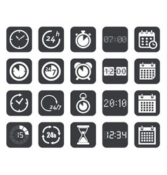 clock timers calendar icons vector image vector image