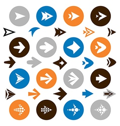 collection of arrow icons vector image