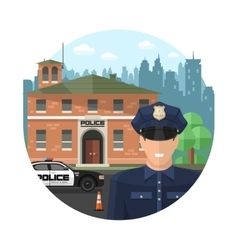 Concept Police Composition vector image vector image