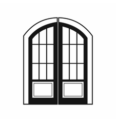 Double door icon simple style vector