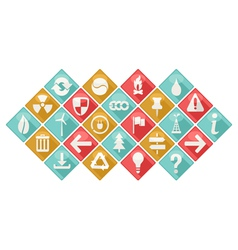 Ecological Theme Icons Set vector image vector image