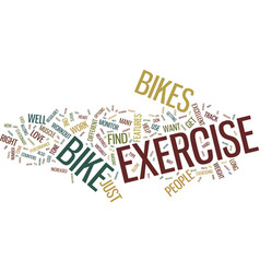 Exercise bikes how far they have come text vector