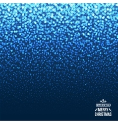 Falling Snow on the Blue Background Christmas vector image