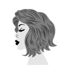 Female profile vector image vector image