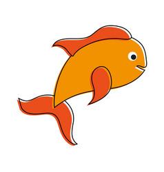 Fish food cartoon vector