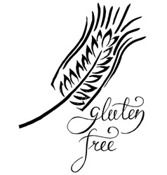 Gluten free label handwritten grunge vector