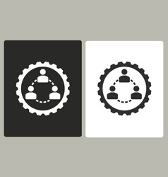 Human interaction - icon vector